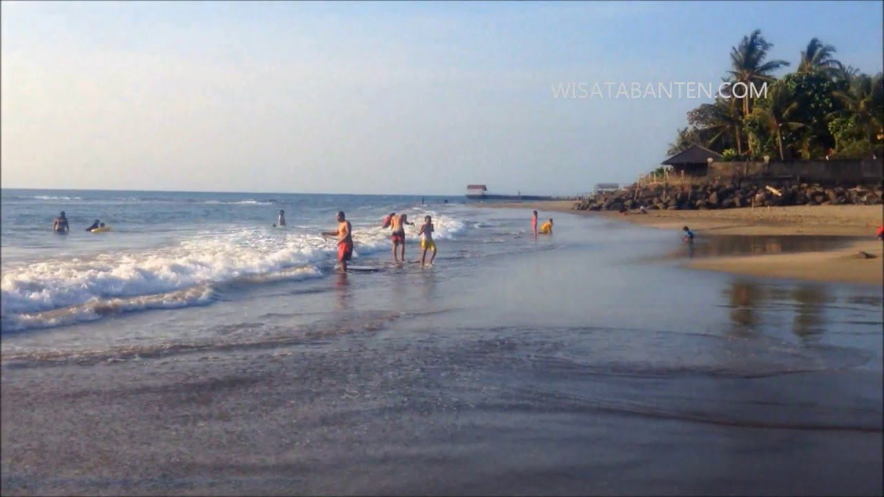 Wahanawisata Keindahan Pasir Putih Pantai Sambolo Anyer Banten Daerah Memiliki