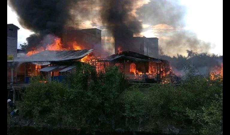 Paseng News Peristiwa Kebakaran Pulau Burung Kab Serang
