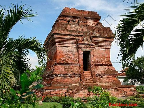 Pari Temple Candi Located 2 Km Sidoarjo East Java Kab