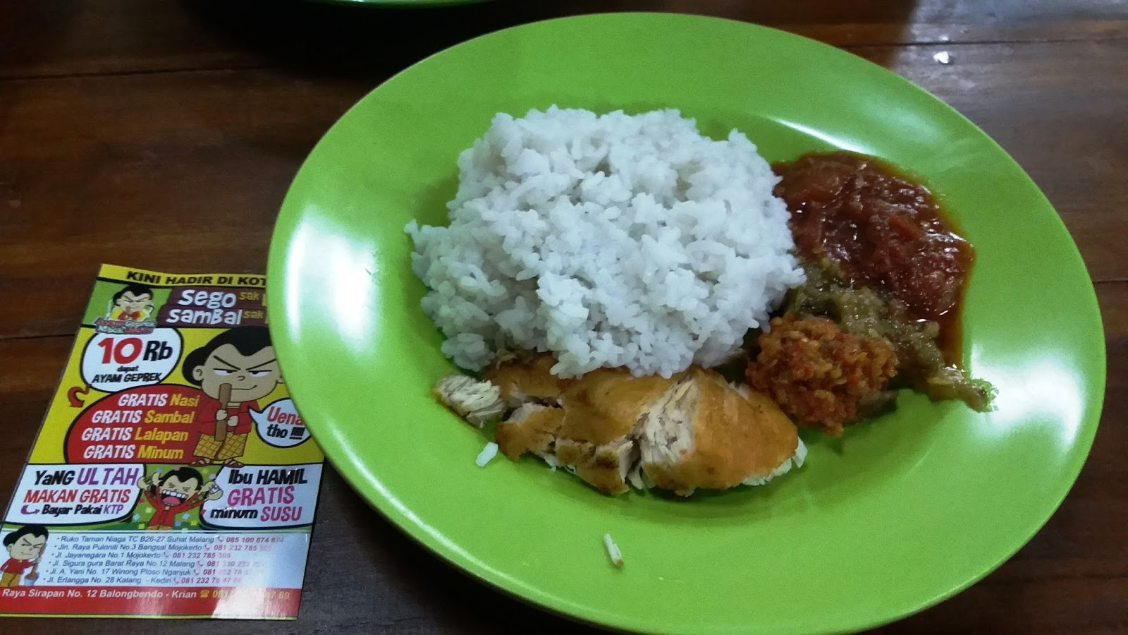Kuliner Kota Krian Ayam Geprek Mbok Judes Haya Zone Yama