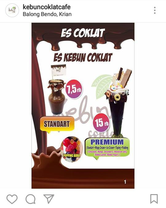 Kuliner Nikmat Hemat Bersahabat Kafe Kebun Coklat Semangkuk Sepatu Cokelat