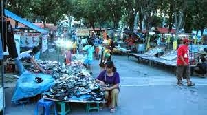 Sidoarjo Pasar Taman Pinang Gading Fajar Malam Kab