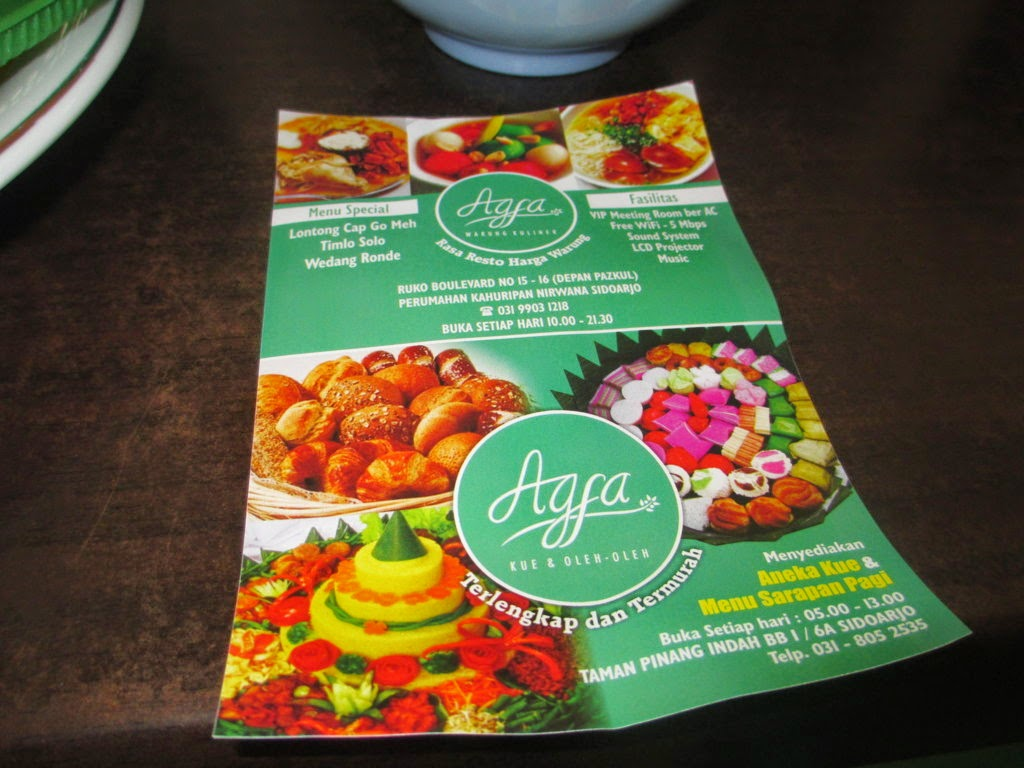 Agfa Warung Kuliner Pazkul Sidoarjo Rumah Maya Tatit Kahuripan Nirwana