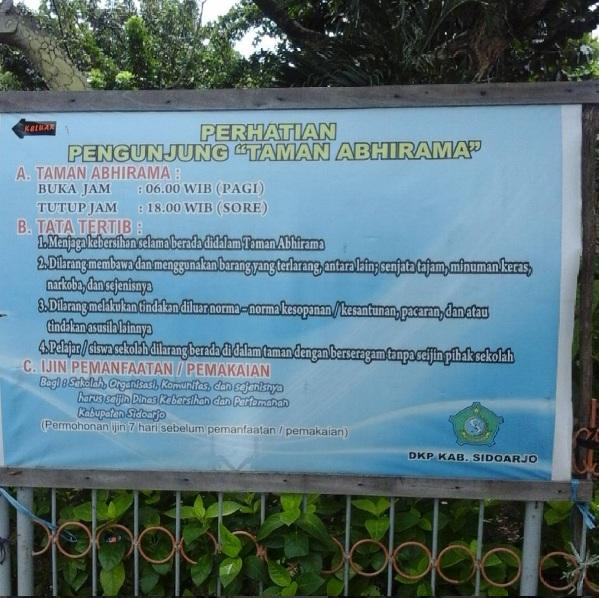 Abhirama Taman Keluarga Tengah Kota Abhirama2 Kab Sidoarjo