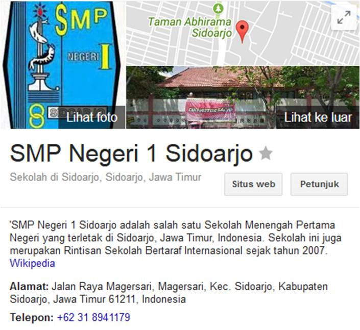 Daftar Sekolah Sd Smp Sma Sidoarjo Kota Negeri Salin Data