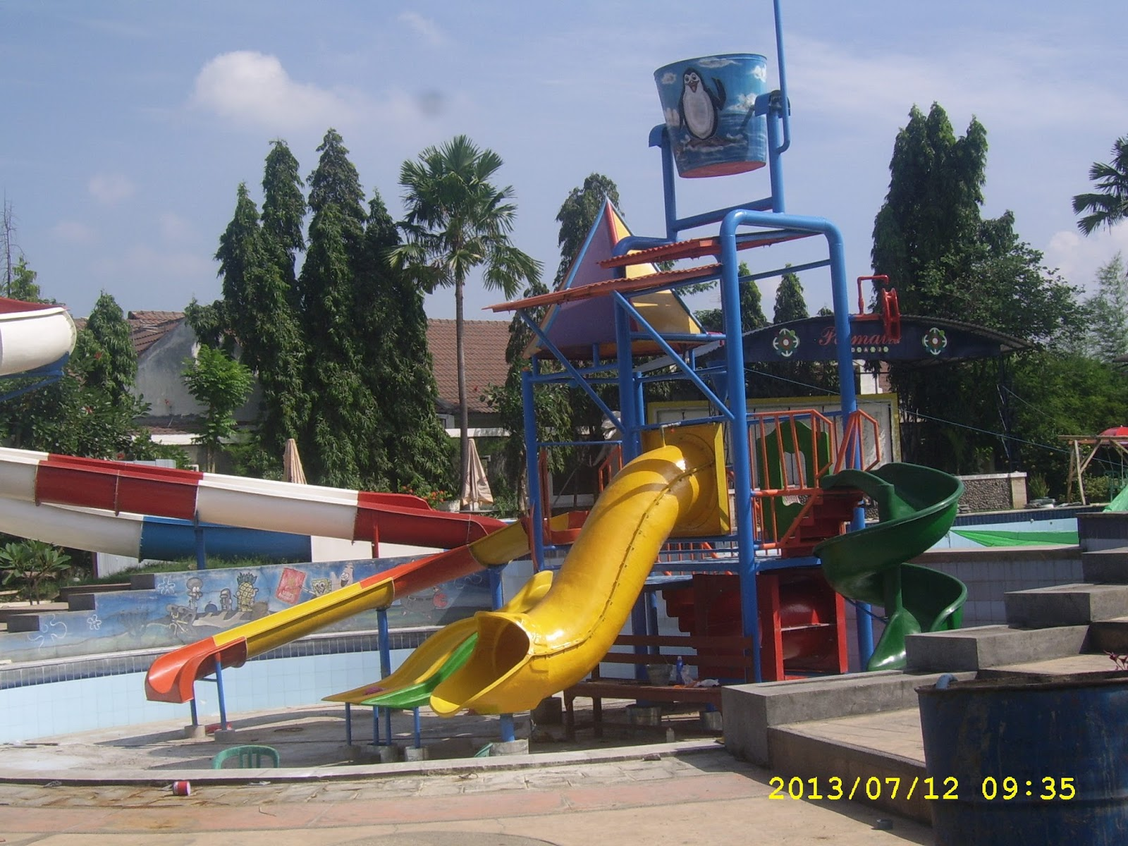 Permata Water Park Lokasi Outbound Tanggulangin Sidoarjo Taman Air Kab