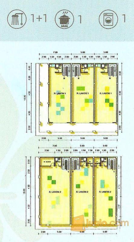 Ruko 2 Lantai Full Bangunan Dp Um 0 Type Onix
