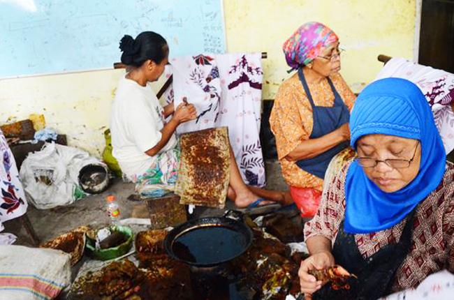 Kampoeng Batik Jetis Sidoarjo Tabinaco Pembatik Wisata Kab
