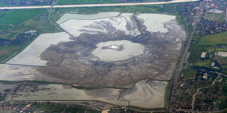 Danau Lumpur Panas Lapindo Diperkirakan Berubah Jadi Pulau Kondisi Semburan