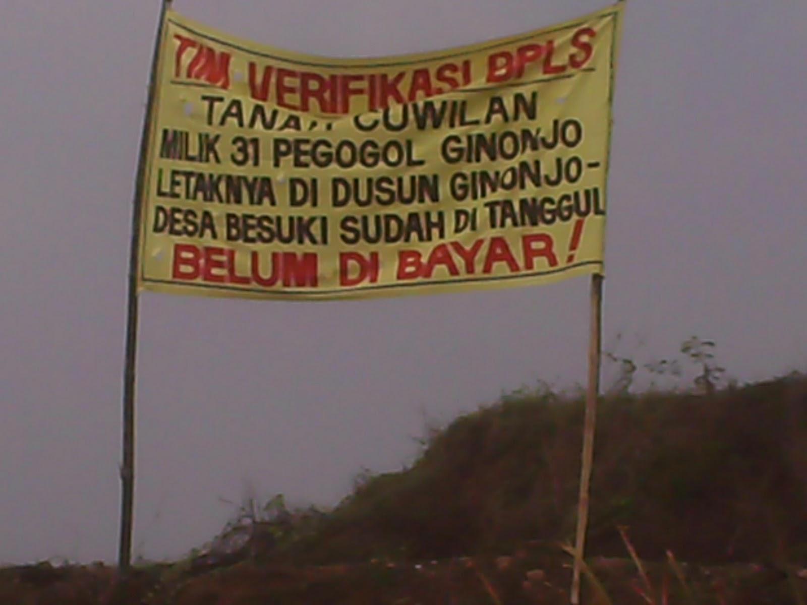 November 2011 Agustinus Sixson Warga Korban Lumpur Lapindo Dusun Ginonjo