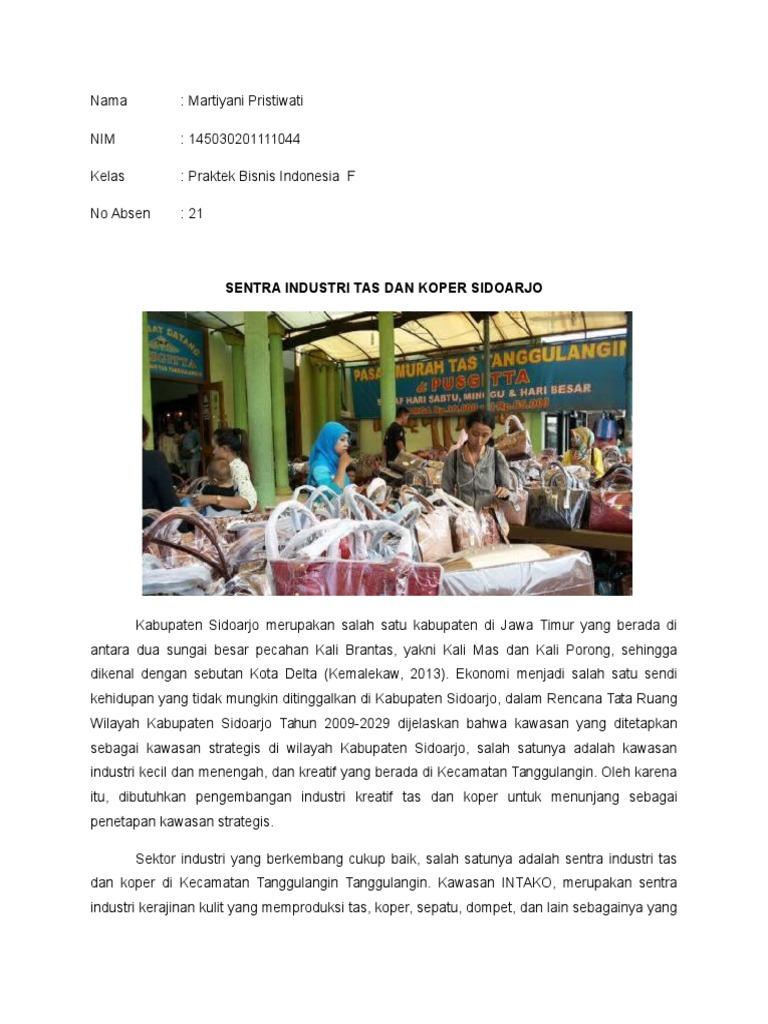 Industri Kreatif Kerajinan Tas Tanggulangin Sidoarjo Wisata Sentra Produksi Kab