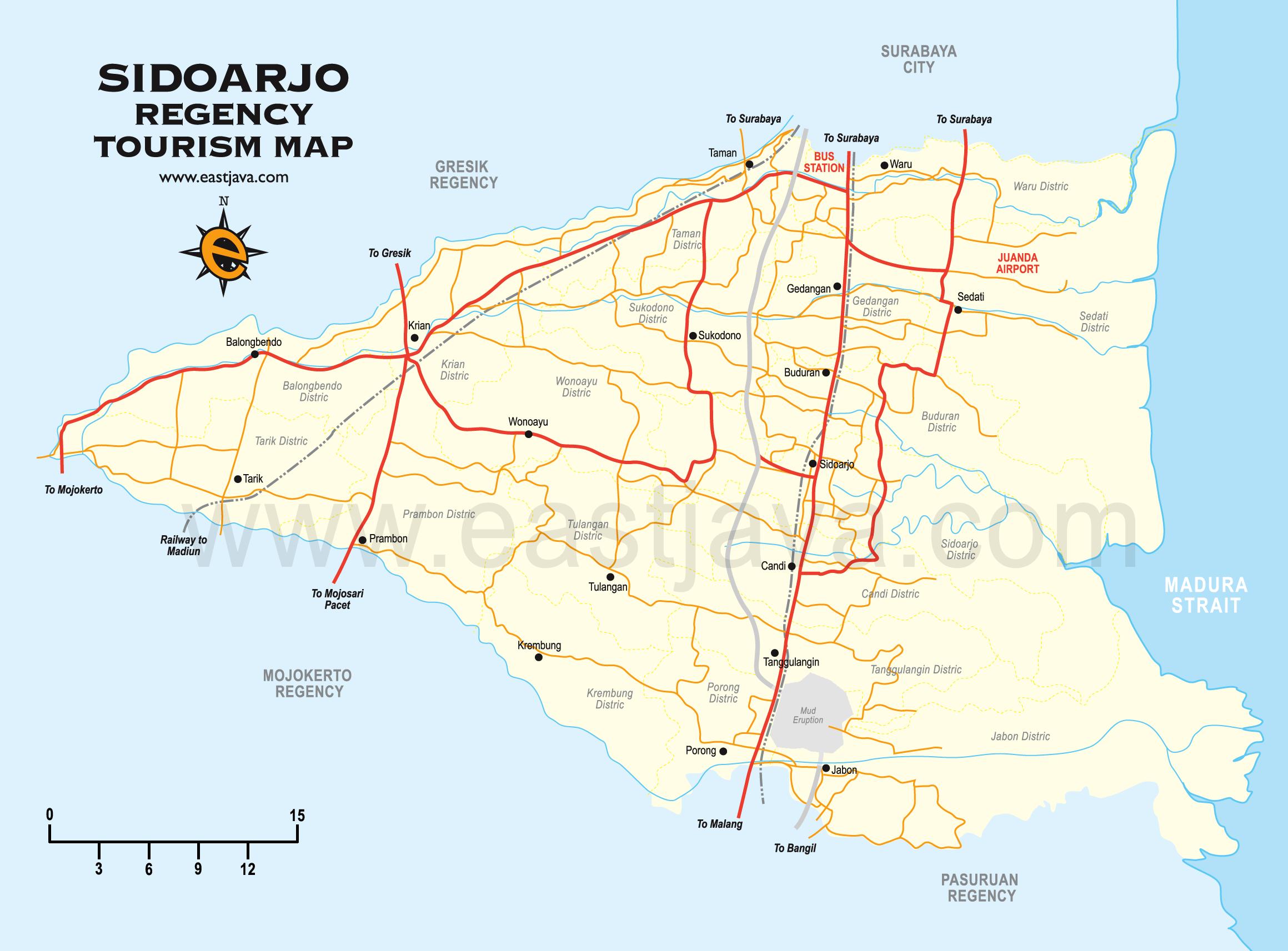 Informasi Kota Sidoarjo Wisata Peta Sentra Produksi Tas Tanggulangin Kab