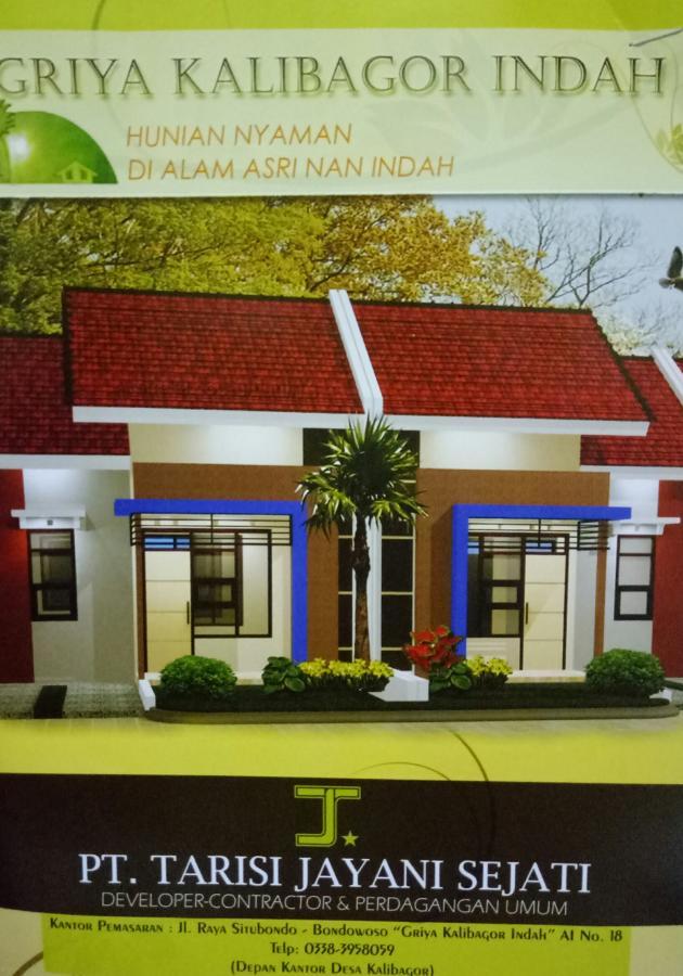 Rumah Dijual Termurah Perum Griya Kalibagor Indah Situbondo Surabaya 120jt
