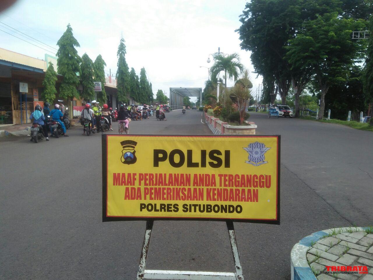 Razia Kendaraan Dua Lokasi Satlantas Polres Situbondo Tilang 36 Informasi