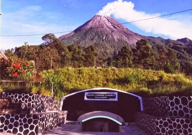 Pesona Bunker Kaliadem Jogja Dibalik Keganasan Letusan Gunung Merapi Sebelum