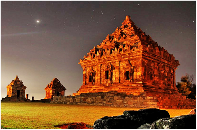 Keindahan Sunset Menghiasi Candi Ijo Yogyakarta Eksotis Jogja Kab Sleman