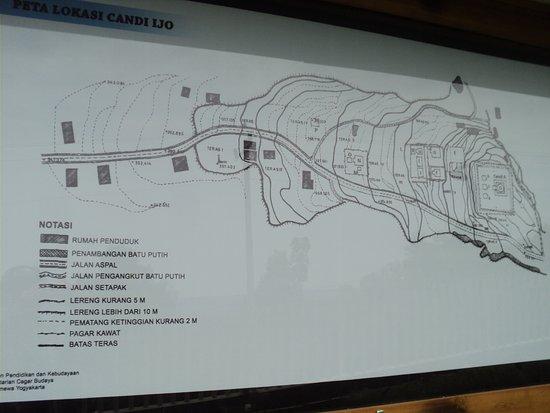 Peta Lokasi Site Candi Ijo Sekitarnya Picture Temple Kab Sleman