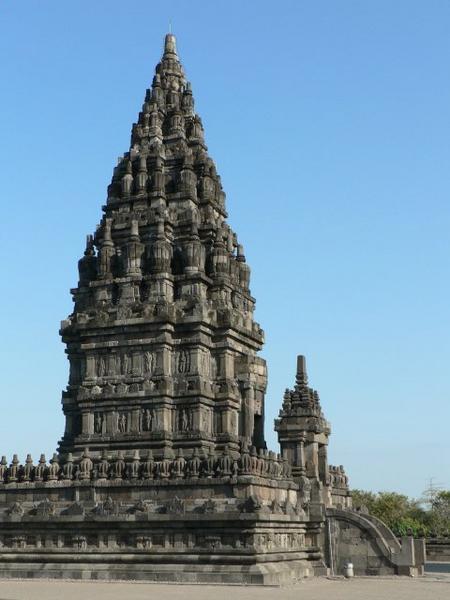Candi Prambanan Terletak Sleman Jogja Bangun Rakai Pikatan Hindu Wisata
