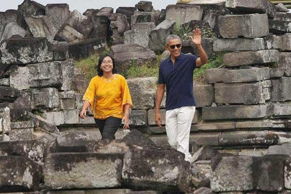 Kesan Pemandu Wisata Dampingi Obama Candi Prambanan Mantan Presiden Amerika