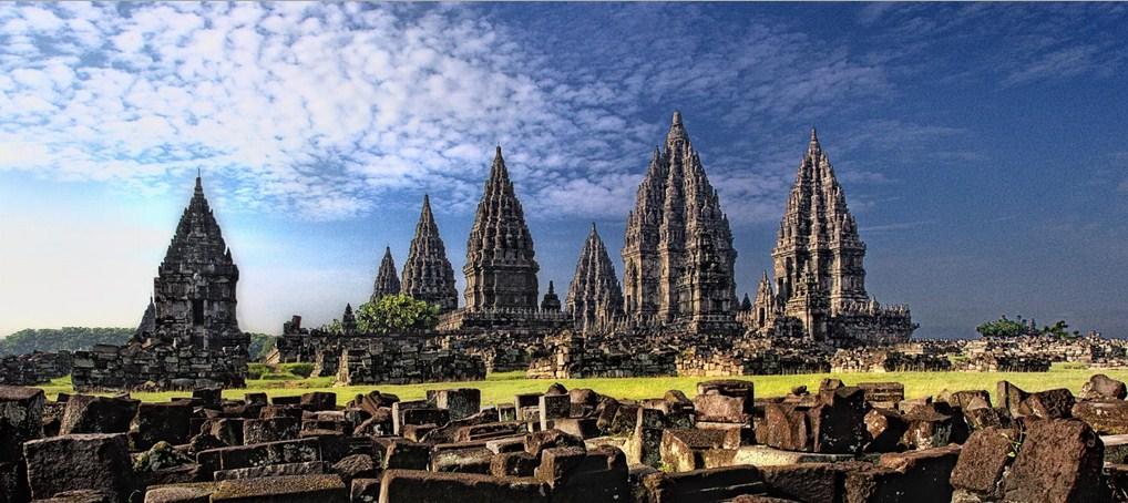 Prambanan Temple Candi Sunset Yogyakarta Jogja Panorama Kab Sleman