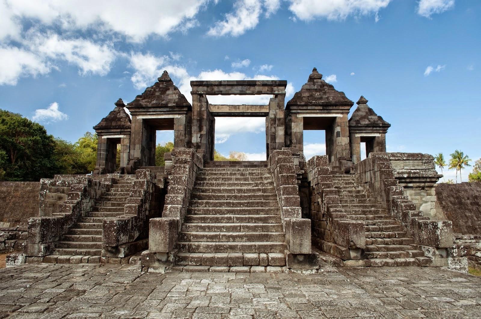 Candi Ratu Boko Tempat Wisata Jogja Istana Kab Sleman