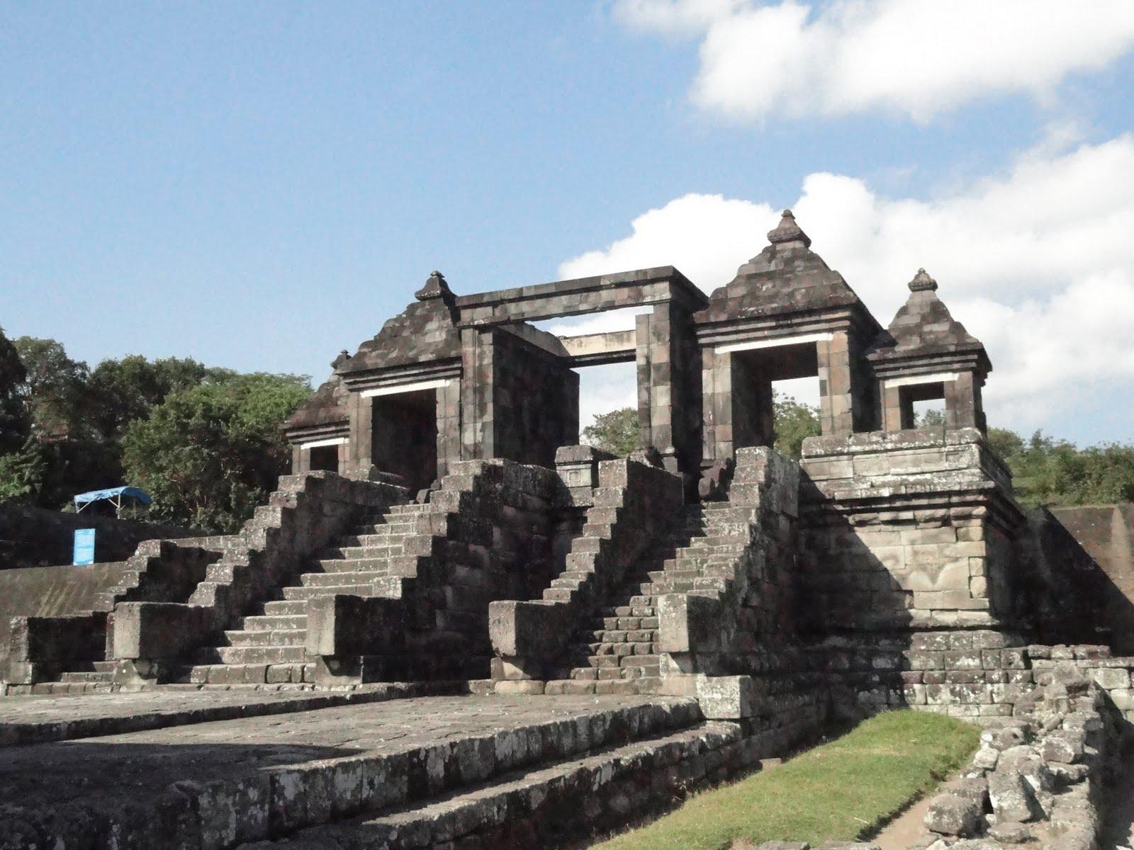 Kraton Ratu Boko Indonesia View Istana Kab Sleman
