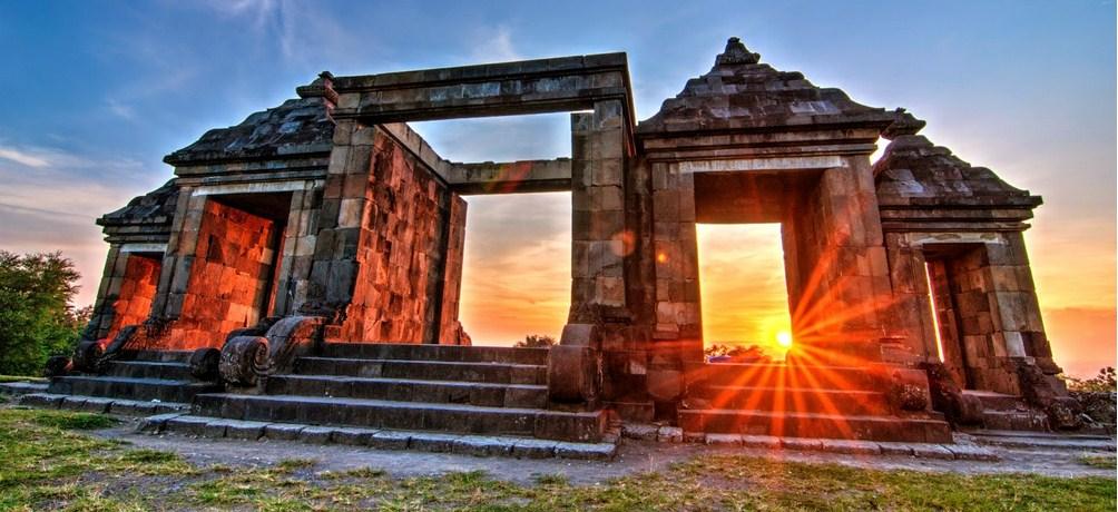 Ratu Boko Palace Temple Kraton Candi Sunset Ratuboko 6 Istana