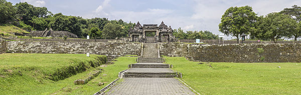Ratu Boko Wikipedia Front Gate Walls Largest Terrace Viewed Left