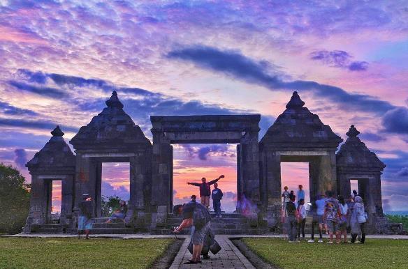 Sunset Harga Tiket Candi Ratu Boko Jogja Istana Kab Sleman