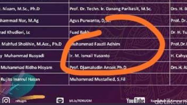 Nama Jubir Hti Dicoret Daftar Penceramah Masjid Kampus Ugm Maskam