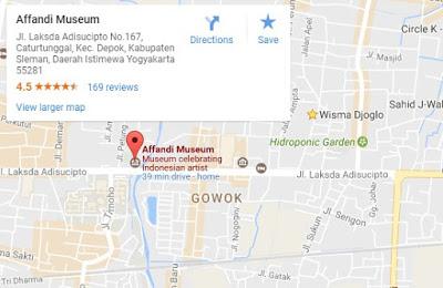 Kopiqu Kedai Online Museum Affandi Waktu Kunjungan Senin Sabtu Pukul