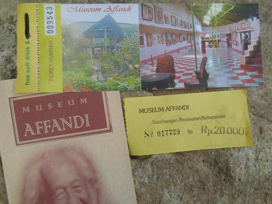 Tiket Masuk Brosur Museum Affandi Picture Kab Sleman