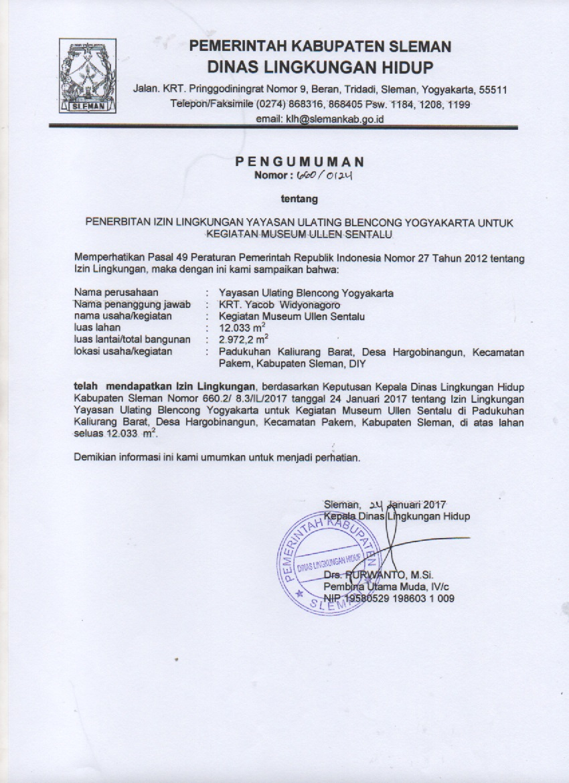 Pemerintah Kabupaten Sleman Blog Archive Pengumuman Penerbitan Silahkan Tulis Tanggapan