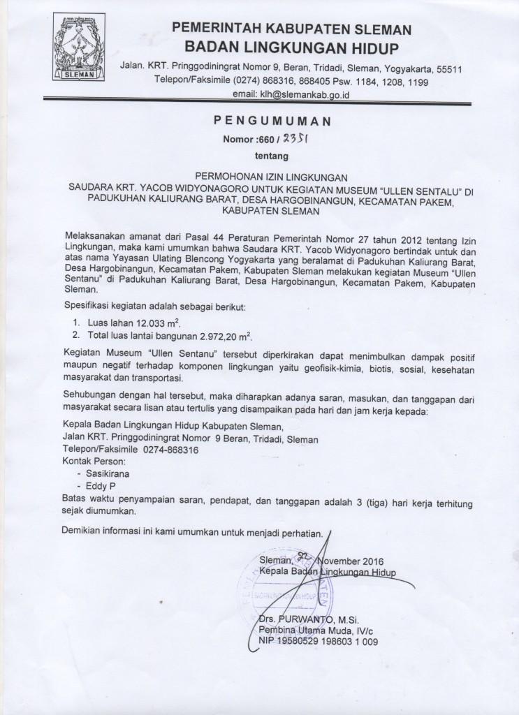 Pemerintah Kabupaten Sleman Blog Archive Pengumuman Permohonan Silahkan Tulis Tanggapan