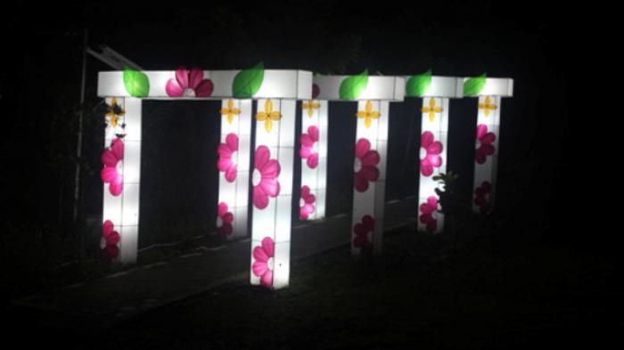 Festival Lights Hutan Lampion Kaliurang Wisata Yogyakarta Taman Pelangi Kab