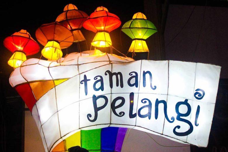 Wisata Malam Lampu Lampion Taman Pelangi Yogyakarta Kab Sleman