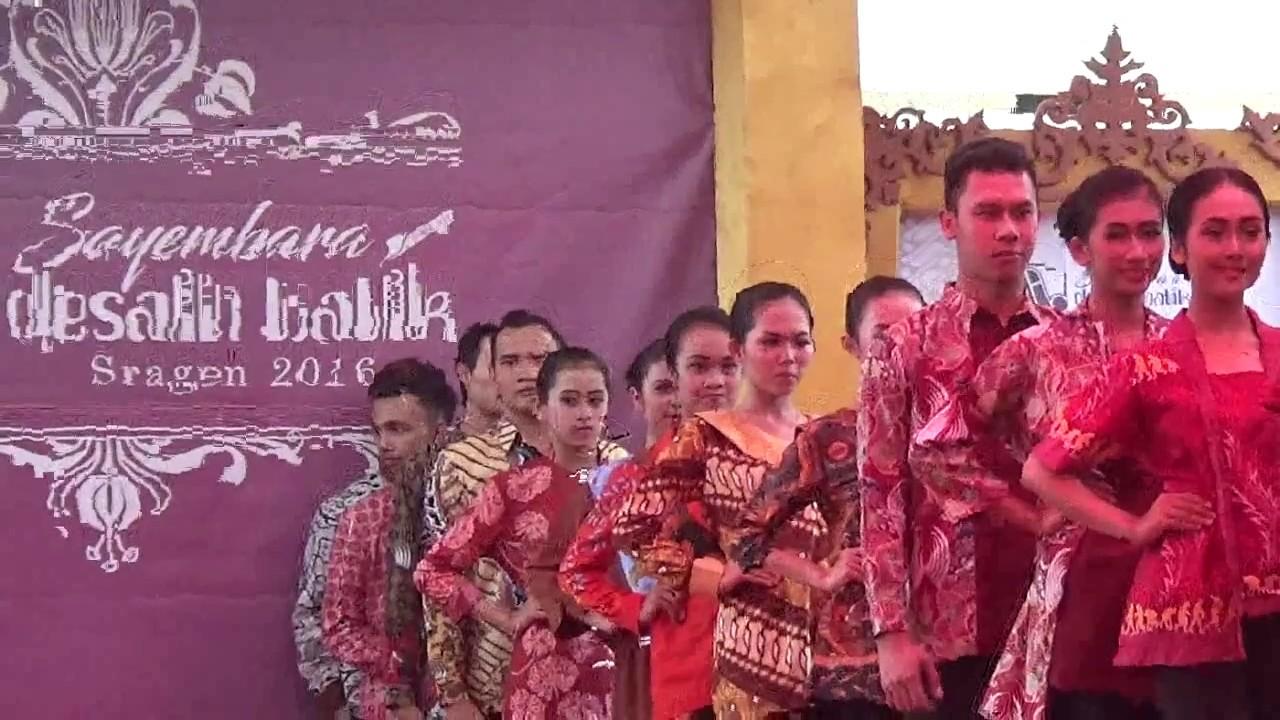 Fashion Show Batik Sukowati Saatnya Sragen Unjuk Gigi Youtube Wisata