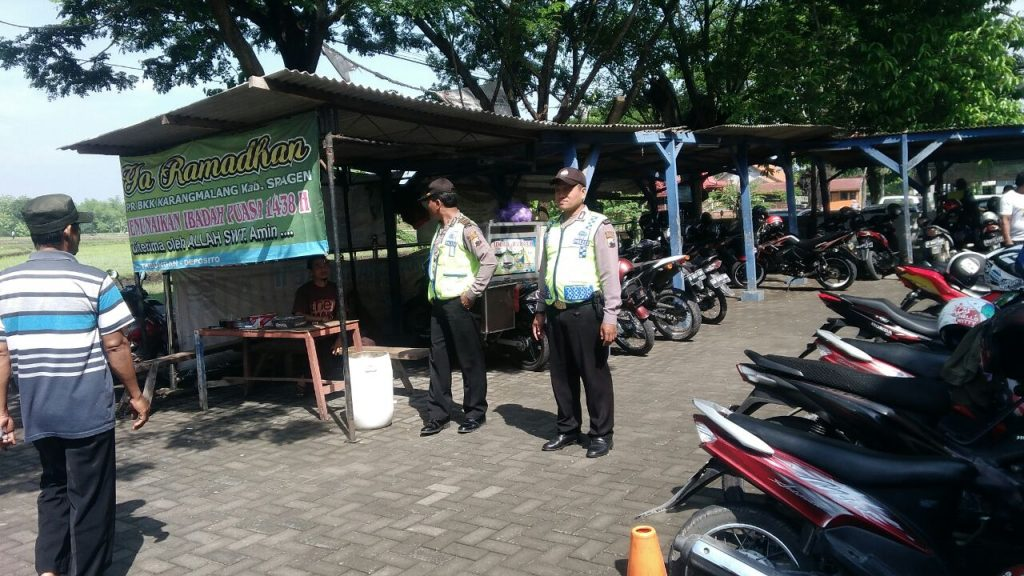 Piket Siang Polsek Karangmalang Sragen Sambangi Obyek Wisata Sasaran Patroli