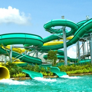 Water Slides Playground Equipment Aliya Jaya Fiber Waterboom Alaska Kab