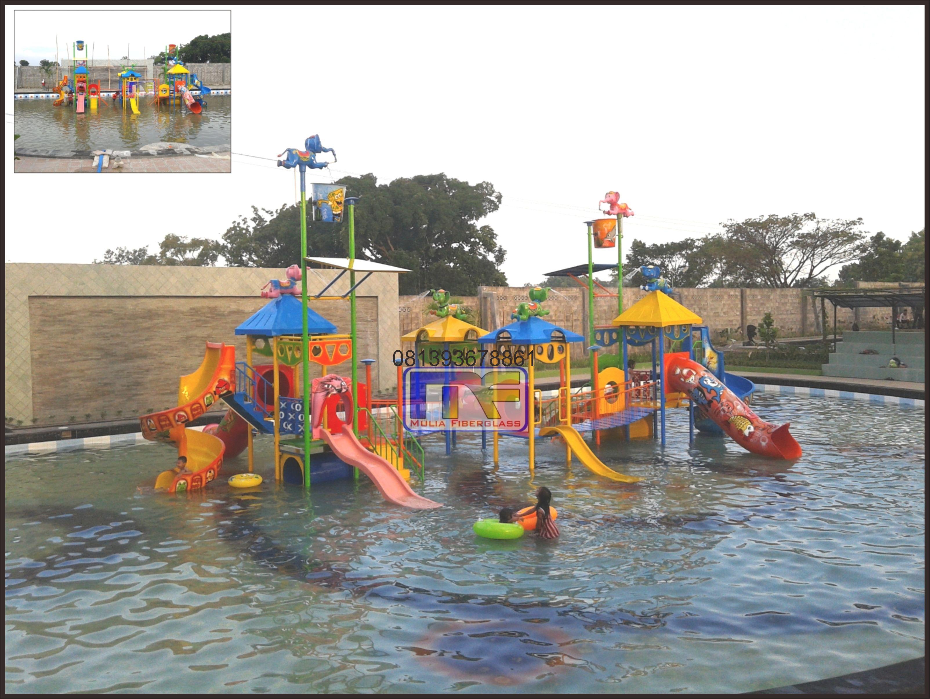 Ember Tumpah Fiberglass Murah Produsen Waterboom Waterpark Permainan 8 Alas