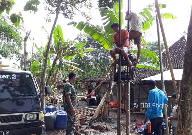 Kekeringan Sukoharjo Sumur Bantuan Jokowi Pasok Air Warga Ngreco Weru