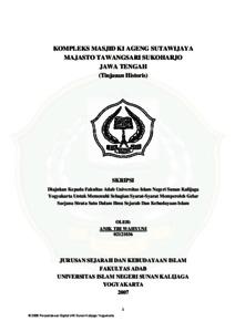 Kompleks Masjid Ki Ageng Sutawijaya Majasto Tawangsari Sukoharjo Jawa Tengah