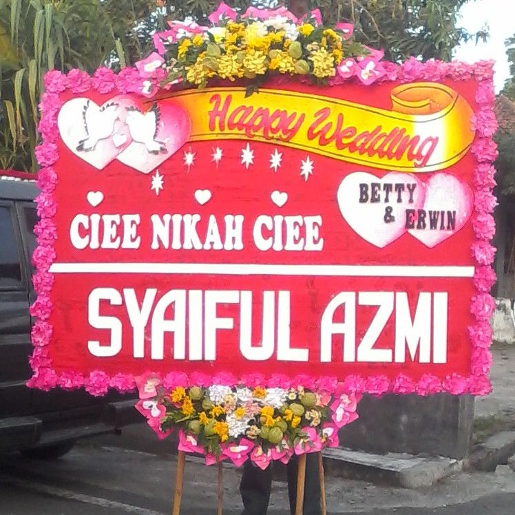 Toko Bunga Sukoharjo Jual Papan Online Murah Happy Wedding Sko