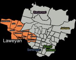Pajang Laweyan Surakarta Wikipedia Bahasa Indonesia Peta Lokasi Kelurahan Petilasan
