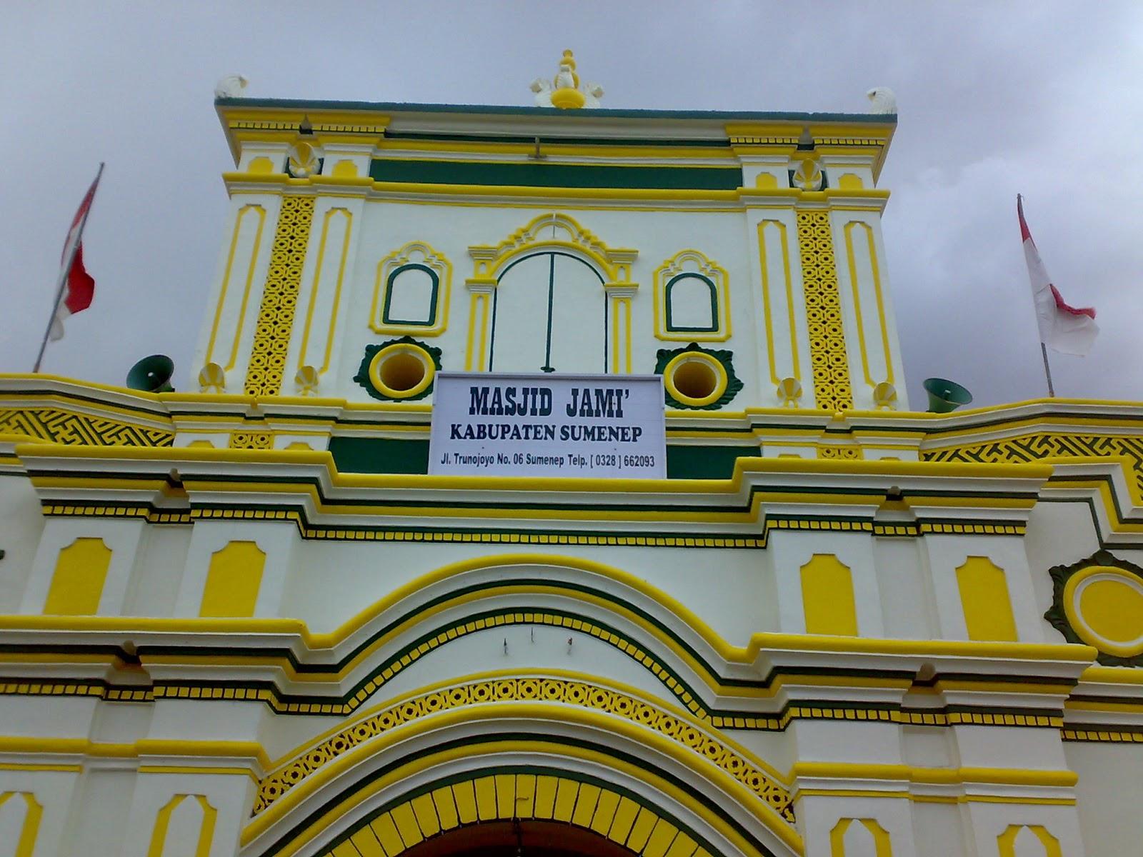 Warna Warni Masjid Agung Sumenep Twilight Stories Pintu Gerbang Didominasi