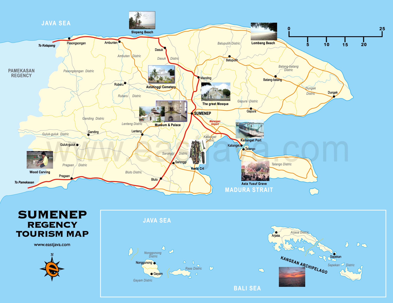 Map Sumenep Peta Madura Jawa Timur Google Museum Keraton Kab