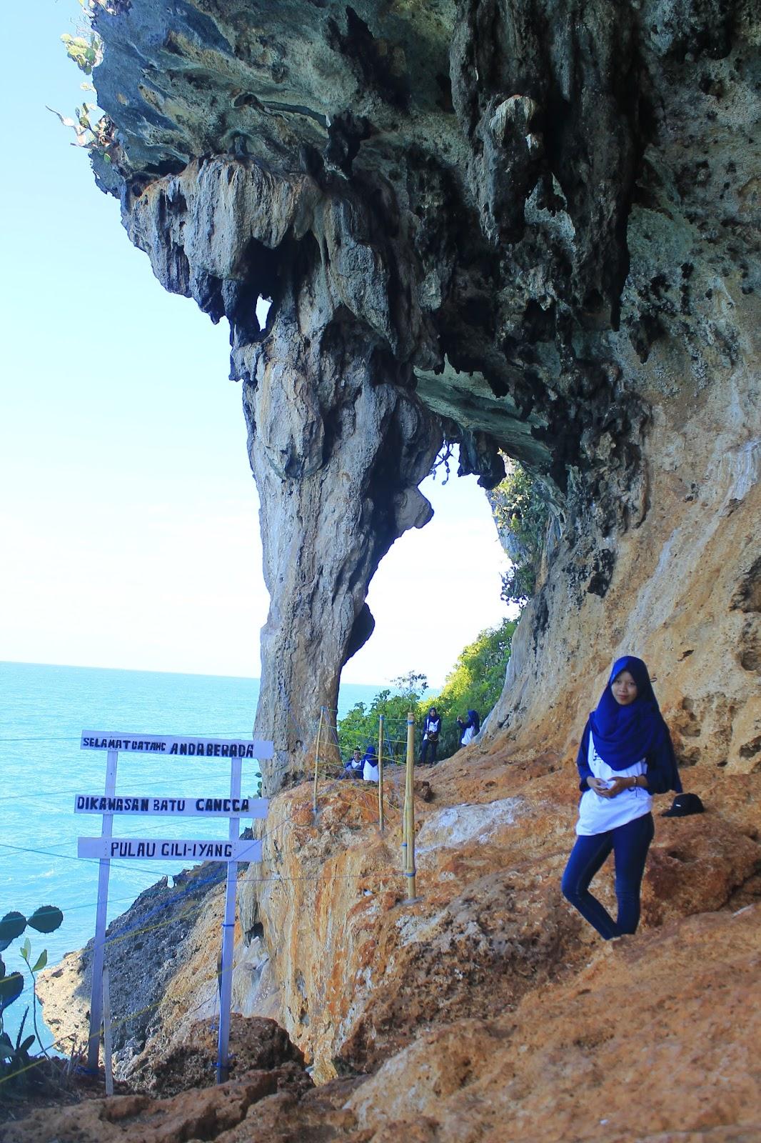 Cantiknya Wisata Batu Canggah Gili Iyang Desa Bancamara Pulau Oksigen