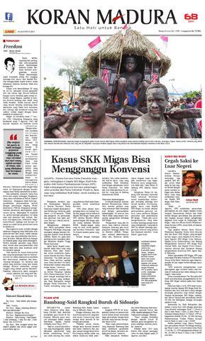 Paper Koran Madura 16 Agustus 2013 Issuu Page 1 Taman