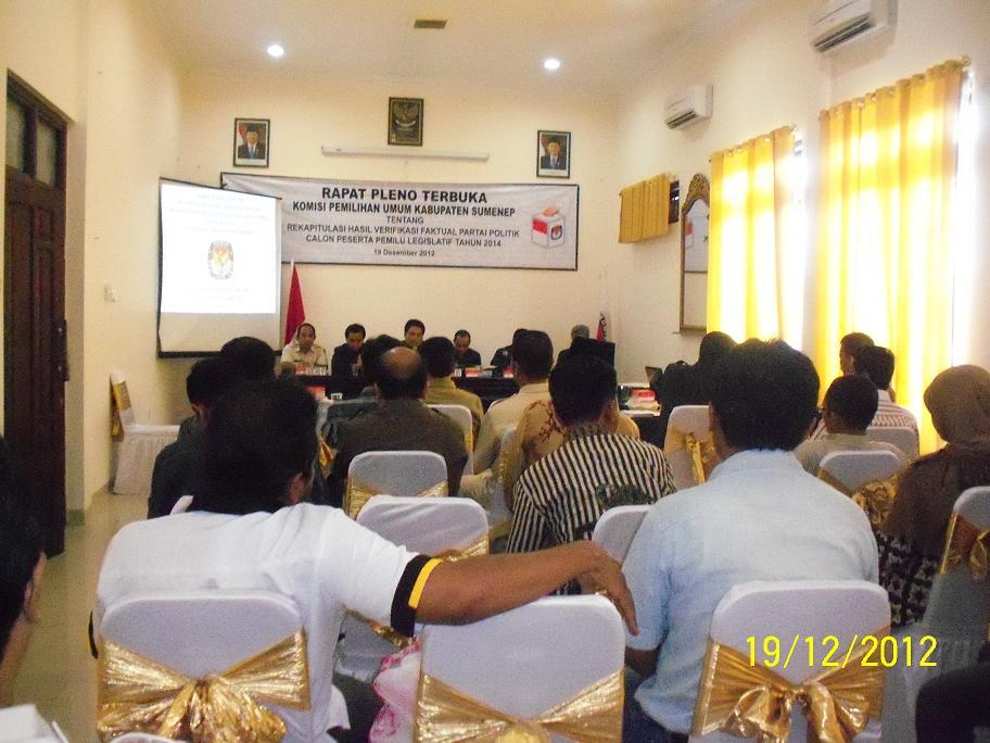 Kpu Sumenep Jawa Timur Website Resmi Komisi Pemilihan Umum Rapat