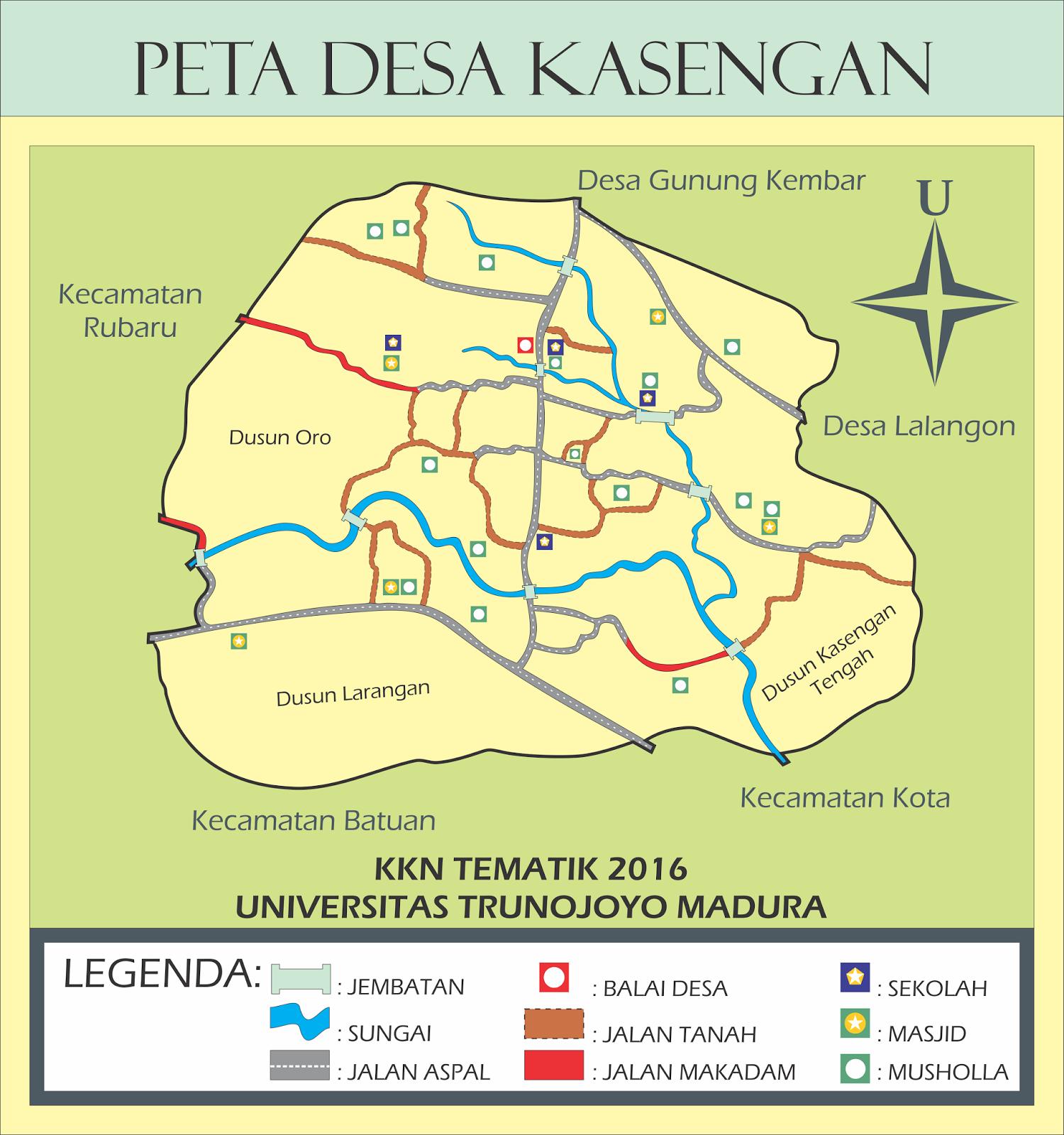 Peta Desa Kasengan Manding Sumenep Wps Kab